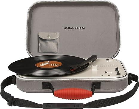 Crosley CR8016A-GYEU - Maleta portátil de tres velocidades, color ...