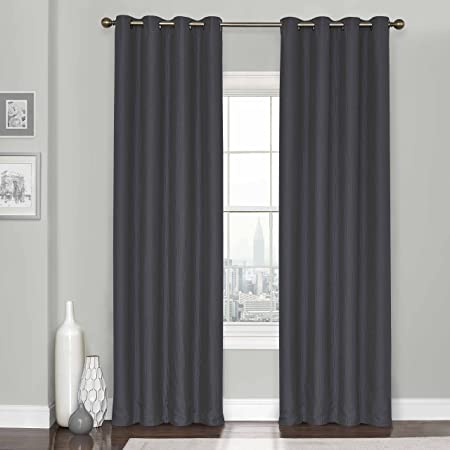 """1 Set Eclipse 100/% Blackout Window Curtain Panel Lined 63/"""" 84/"""" 95/"""" 108/"""" CHARCOAL"""