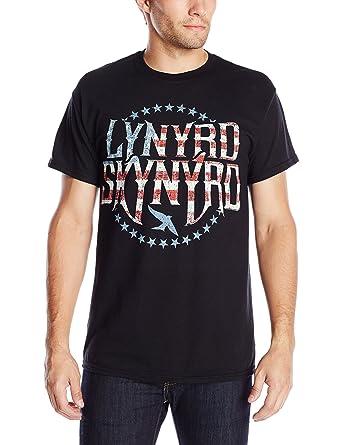 d9283f2466c Amazon.com  FEA Men s Lynyrd Skynyrd Stripes and Stars Vintaged Logo ...
