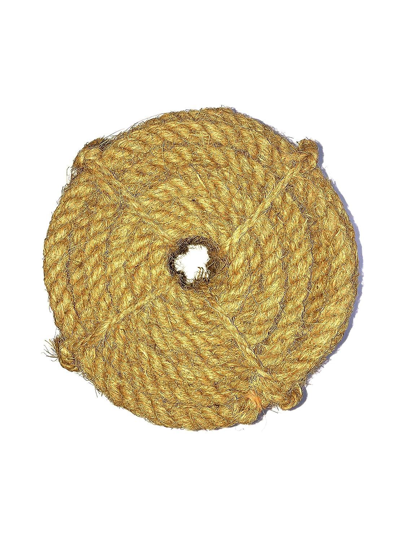 Coir Rope 3層 厚手ココナッツ繊維より糸 65フィート 厚さ0.8インチ   B07LGQHCJ1