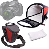 DURAGADGET Protective Black and Red Durable Water-Resistant Carry Case - Compatible with the NEW Nikon Coolpix A300 | Coolpix A900 | Coolpix B500 | Coolpix B700 Cameras