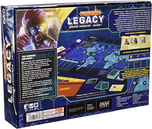 Asmodee Pandemic-Legacy Azul, pan07blu, Juegos de Mesa: Amazon.es: Juguetes y juegos