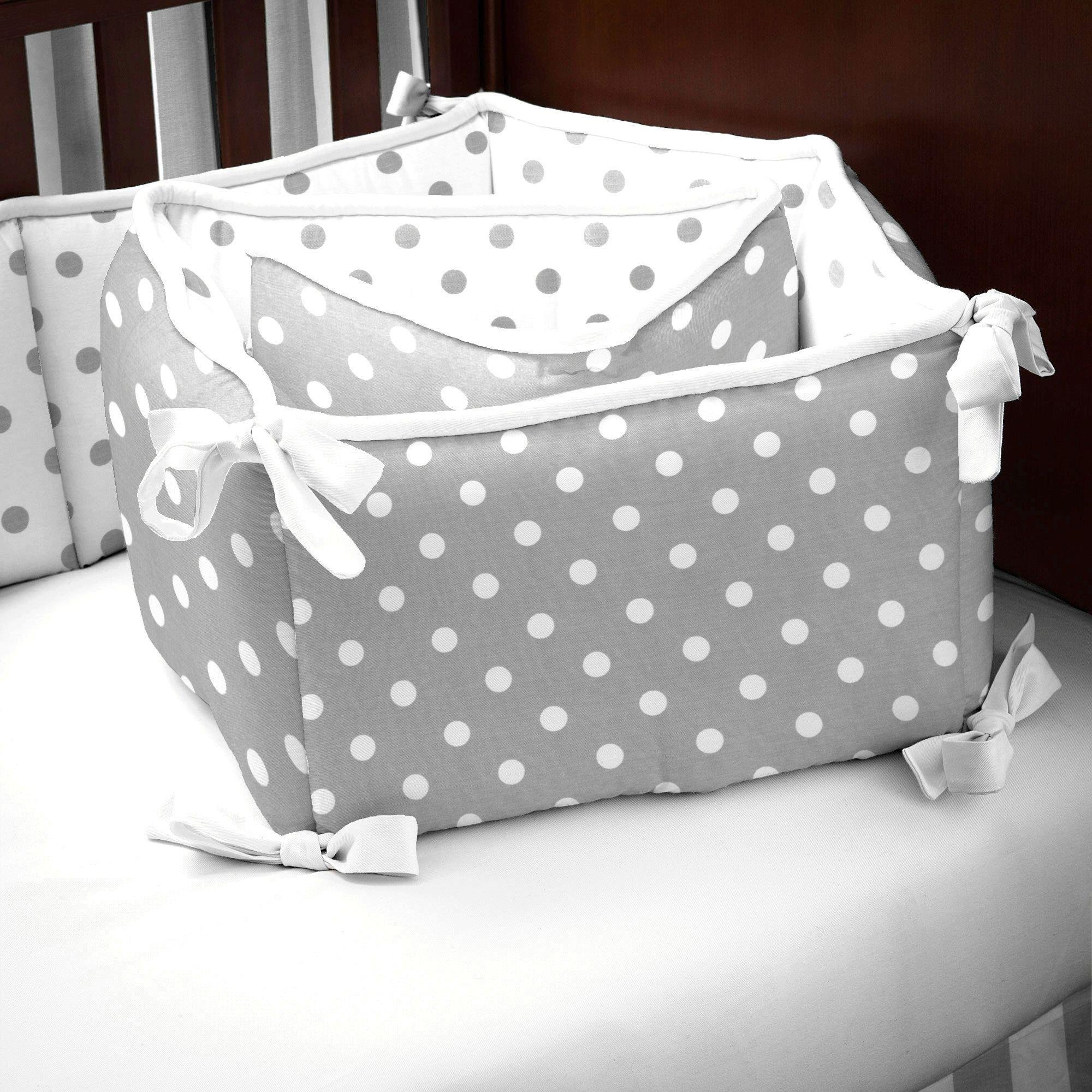 Carousel Designs Gray and White Dots and Stripes Crib Bumper