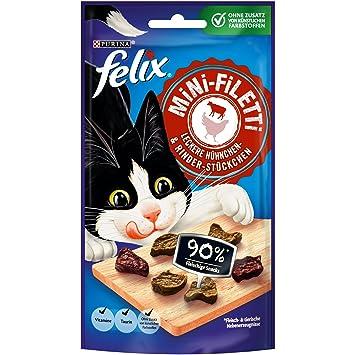 Nestlé Felix Mini de filetti Gato Snack, 7 Unidades (7 x 40 g Bolsa): Amazon.es: Productos para mascotas