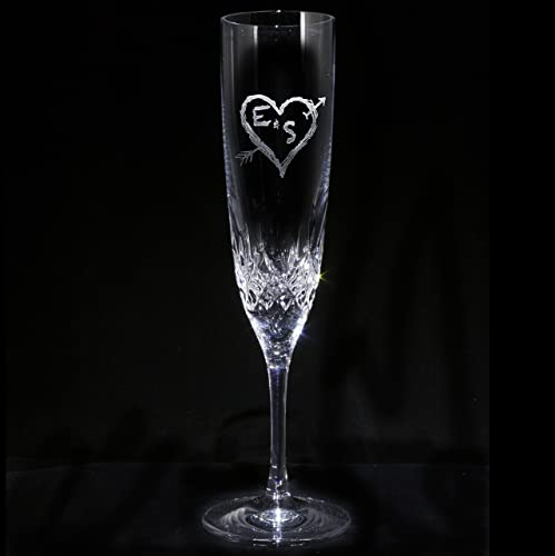 Amazon Com Waterford Crystal Champagne Flute Engraved Wedding Gifts