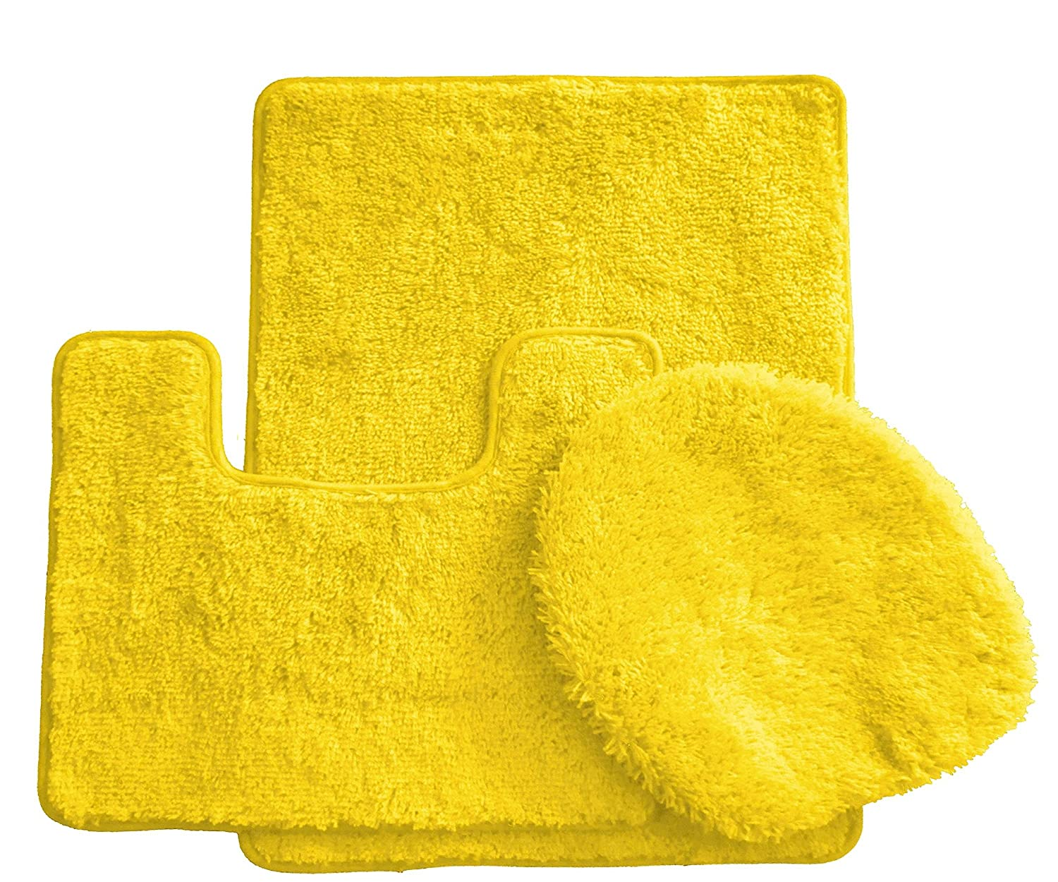 Plush Bathroom Rug Sets: Royal Plush Collection 3 Piece Bathroom Rug Set