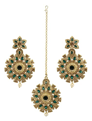 MUCHMORE Fabulous Indian Pearl & Crystal Stone Polki Indian Earrings Partywear Jewellery