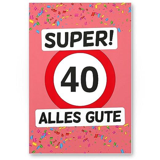 DankeDir!. 40 Alles Gute (Rosa) - Cartel de plástico, Regalo ...