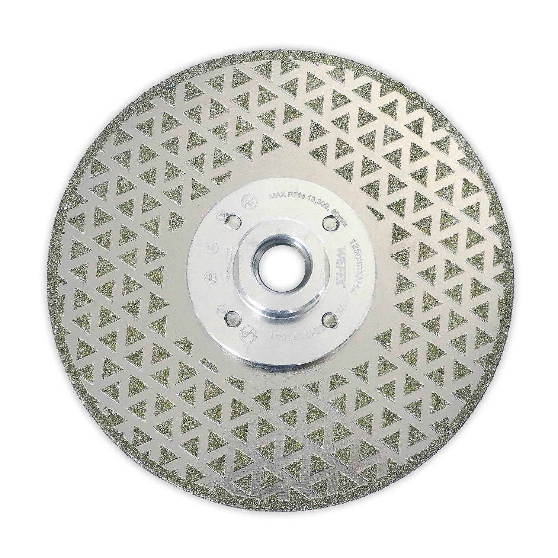 wefex Disque diamant//Disque abrasif Galvanic Pro 125/mm M14/Bride galvanis/ée Gr/ès C/érame carrelage plastique GFK carbone pierres naturelles