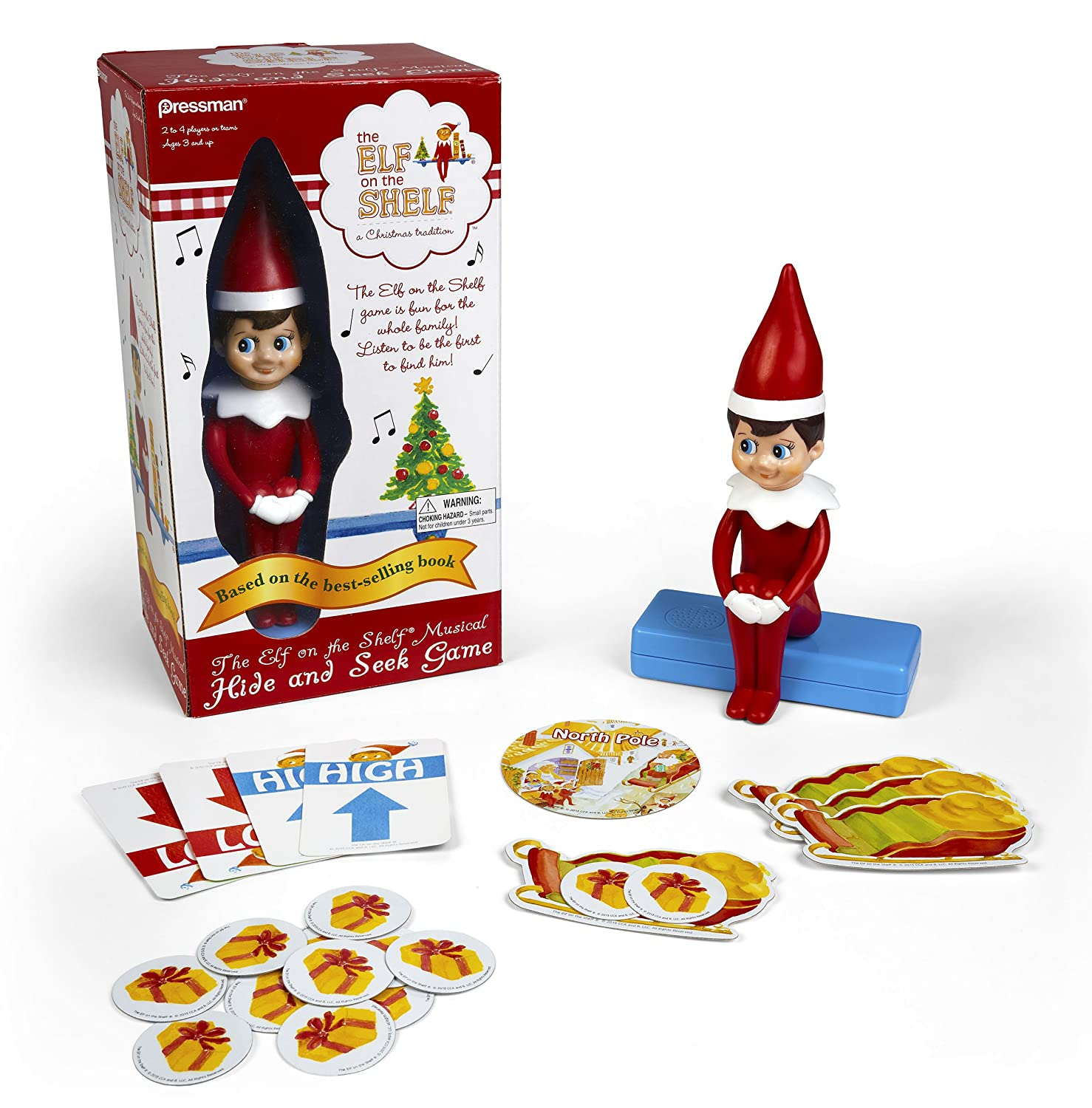 Amazon Com Elf On The Shelf Hide Seek Game Based On The  # Hide & Seek Muebles