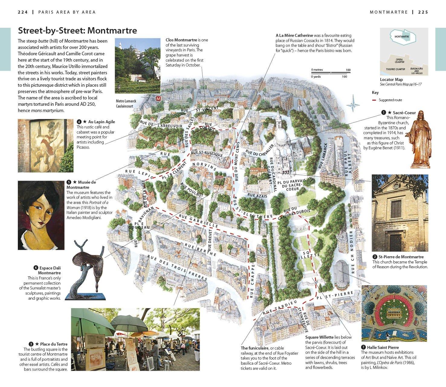DK Eyewitness Travel Guide Paris DK Travel Amazon - What to see in paris map
