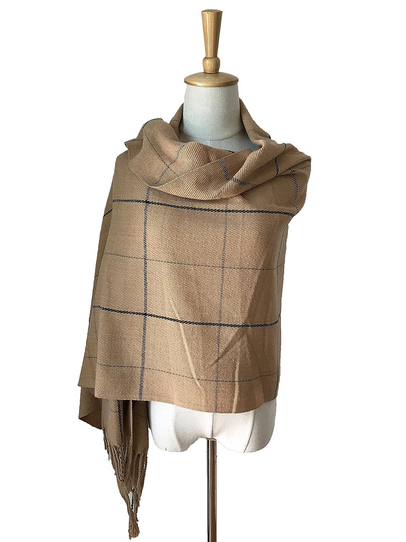 JOSENI Solid Color Pashmina Blanket Scarf Large Winter Wrap Shawl for Women Men