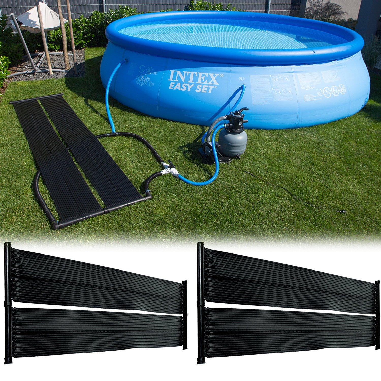 Steinbach 49125 - Conjunto de 2 esterillas de energía solar para piscina (300 x 70 cm): Amazon.es: Jardín