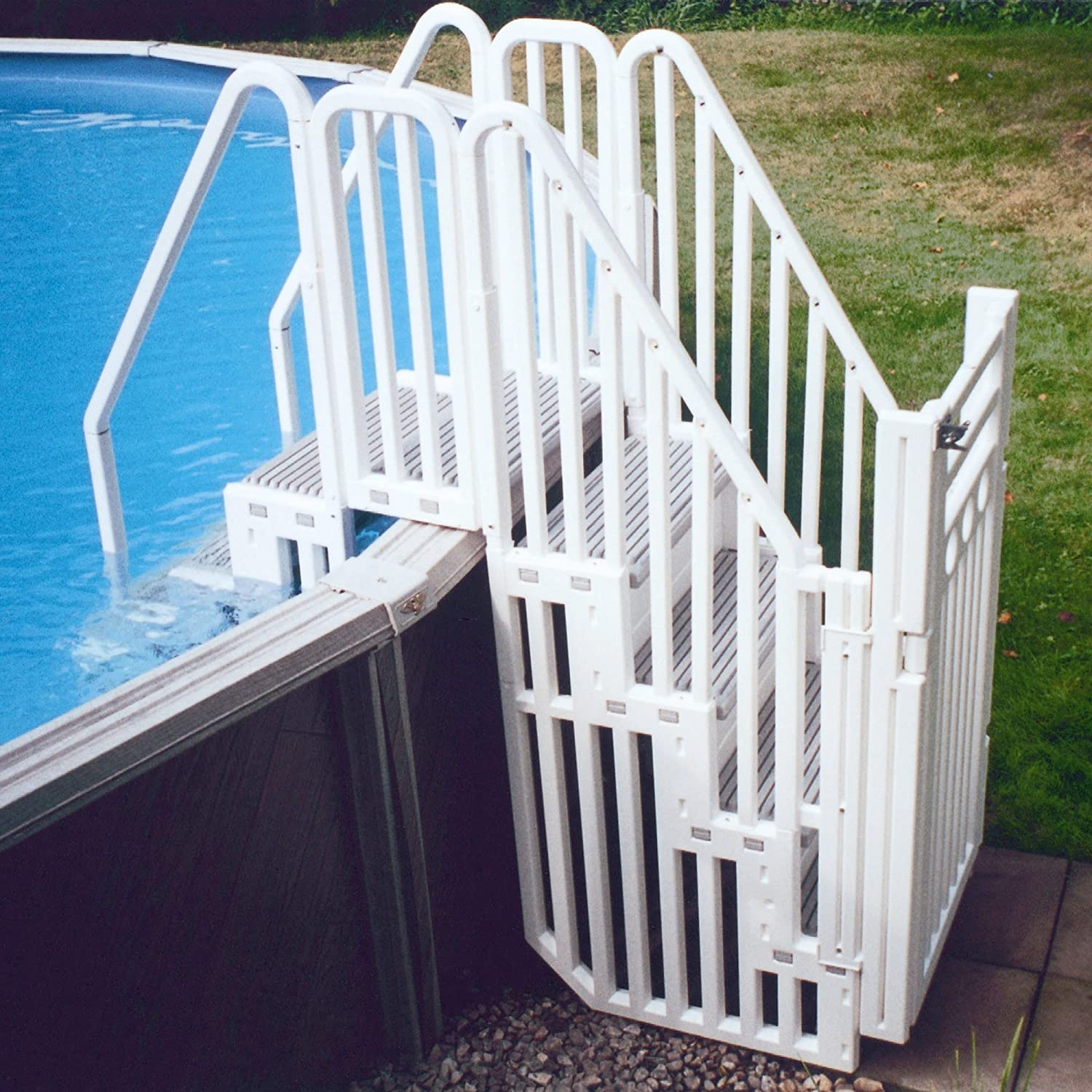 amazoncom confer above ground pool step enclosure kit swimming pool ladders garden outdoor