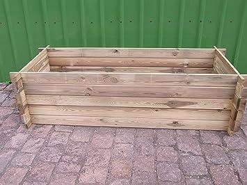 Compostador estable de madera, jardinera, 170 x 65 x 52 cm ...