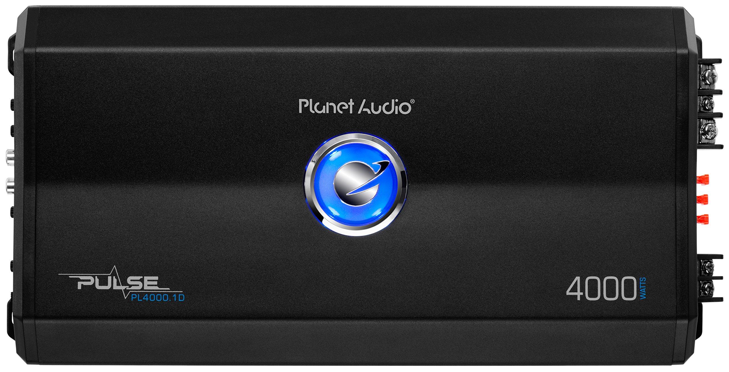 Planet Audio PL4000.1D Pulse 4000 Watt, 1 Ohm Stable Class D Monoblock Car Amplifier with Remote Subwoofer Control by Planet Audio (Image #1)