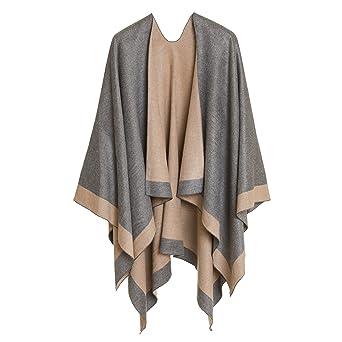 Cardigan Poncho Cape: Women Elegant Cardigan Shawl Wrap Sweater Coat for Spring