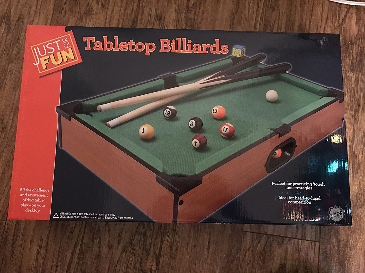 Amazoncom Just For Fun Tabletop Billards Toys Games - Pool table top only