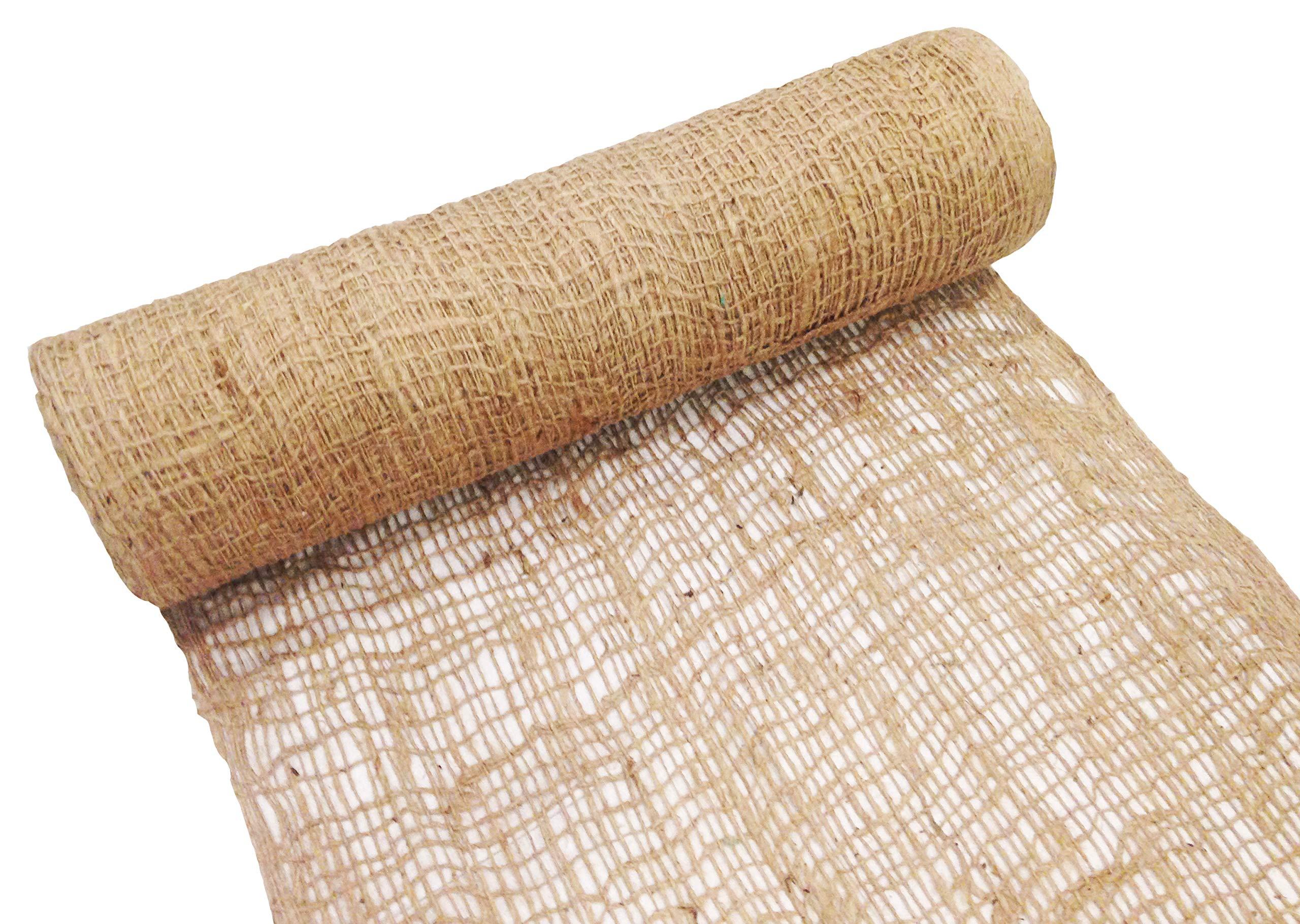 Sandbaggy Jute Netting Roll - Erosion Control Matting Blanket - Jute Matting - Jute Mesh Blanket - Jute Netting Installation for Erosion Control - 225 ft Length by 4 ft Width (1 Roll)