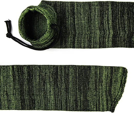 GUGULUZA Funda Tipo Calcetín para Rifle o Escopeta,136 cm Funda Tejida Tratada con Aceite de Silicona Rifle Sock (Verde Fluorescente): Amazon.es: Deportes y aire libre