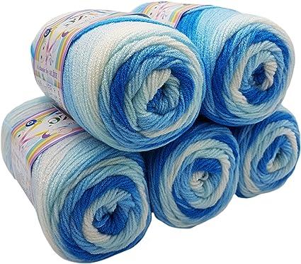 Alize sekerim 5 x 100 g Bebe Bebe Tinte Azul Oscuro No. Lana de Punto y Crochet 2130 Color Blanco 500 gram