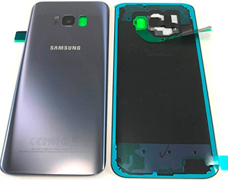 sale retailer 2c7bb 4a1b0 Itstek Samsung Genuine Galaxy S8+ Plus G955 Back Glass Replacement Cover  With Camera Lens & Adhesive - Repair Part (Orchid Gray)