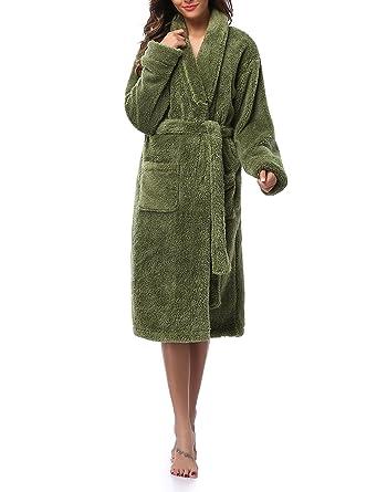 VOGMATE Womens Robe Winter Lightweight Velvet Kimono Robe Bathrobe Luxury  Towelling Dressing Gown Housecoat  Amazon.co.uk  Clothing 14232d51a