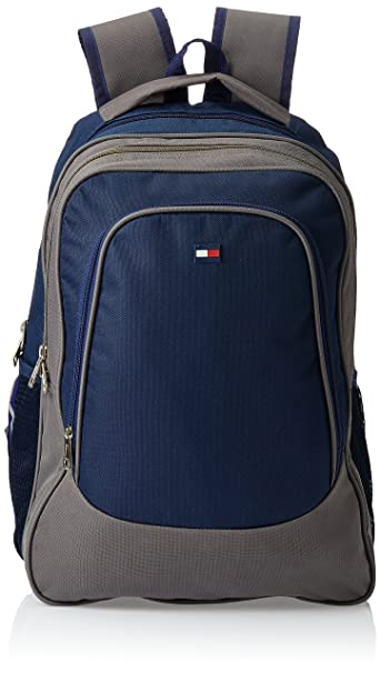 Tommy Hilfiger Back To School Polyester Navy and Grey Children s Backpack (TH BTS08040314 NAVY GRY BPK)  Amazon.in  Bags 18bd7ebc586ae