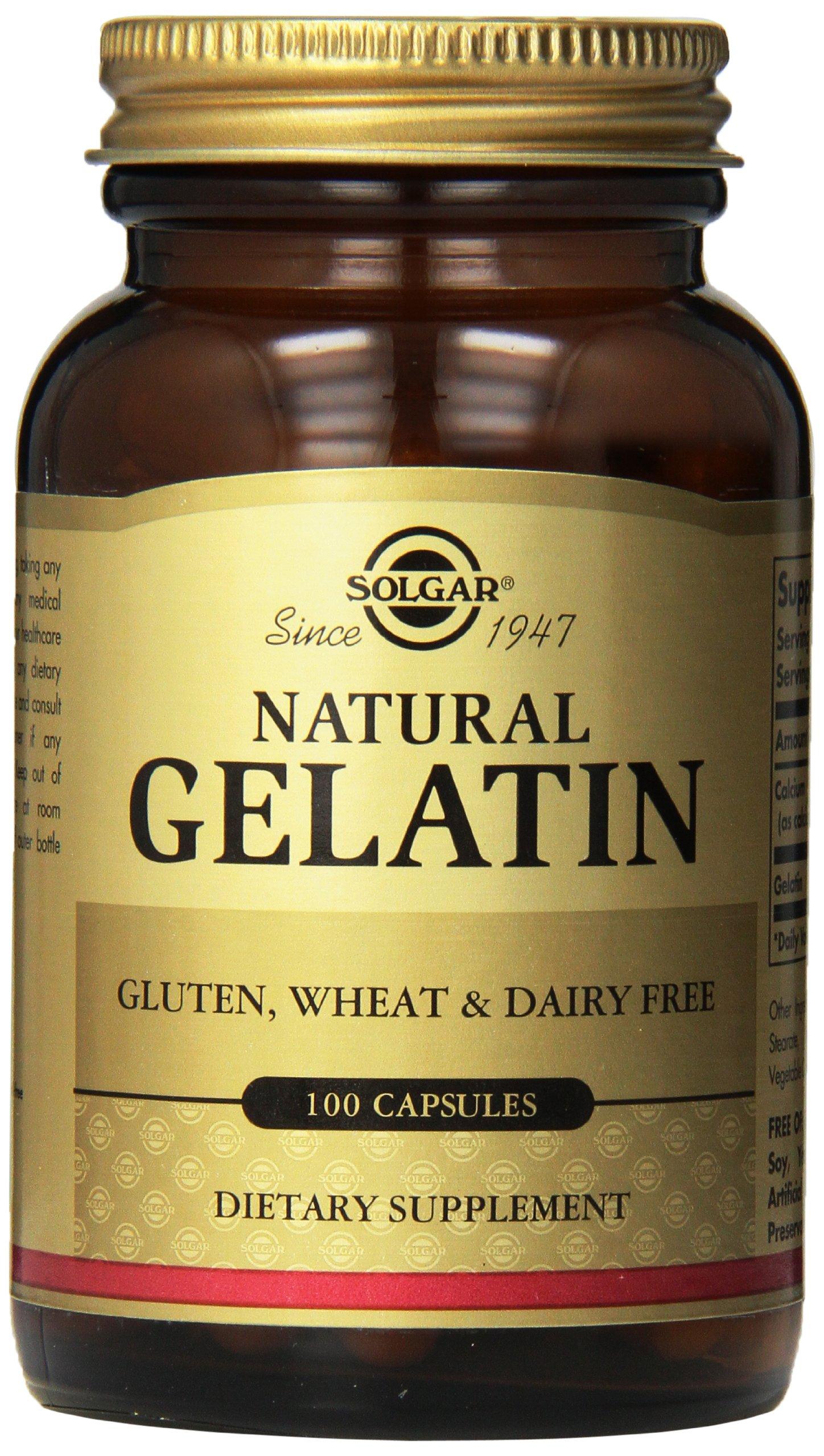 Solgar – Natural Gelatin, 100 Capsules
