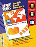 Clear Sheet Protectors - 200 Pack, Reinforced Holes, 8.5 x 11 Inches, Acid Free