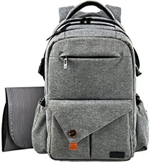 3b2b999d8a HapTim Multi-function Large Baby Diaper Bag Backpack W Stroller  Straps-Insulated Pockets