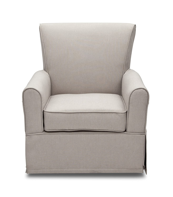 amazon com delta furniture upholstered glider swivel rocker chair