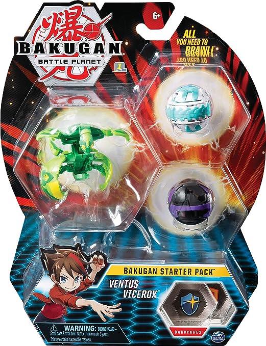 Bakugan 6045144 Starter Pack Set Surtido Los estilos pueden variar Uno Color Multi