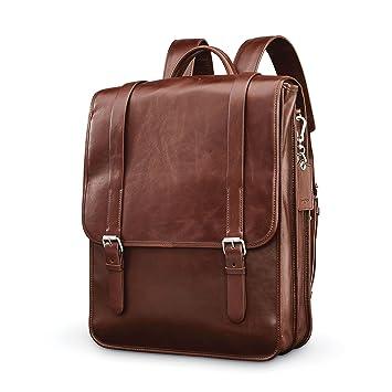 Amazon Com Samsonite Mens Leather 1910 Heritage Backpack Chestnut