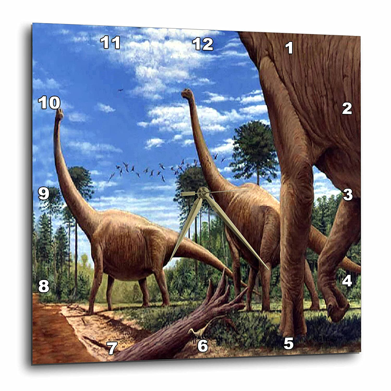 13 by 13-Inch 3dRose dpp/_1008/_2 Dinosaur Brachiosaurus Wall Clock