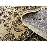 Regal Carpet Silk Touch Kashmiri Design Royal Look Persian Carpet for Your Hall & Living Room 5 X 7 Feet (150x210 cm) Ivory Beige Multi