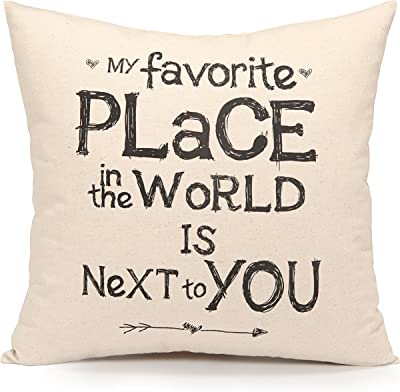 Acanva Decorative Accent Throw Pillow Cushion with Pillowcase Cover Sham and Insert Filling, Inspirational Sweet