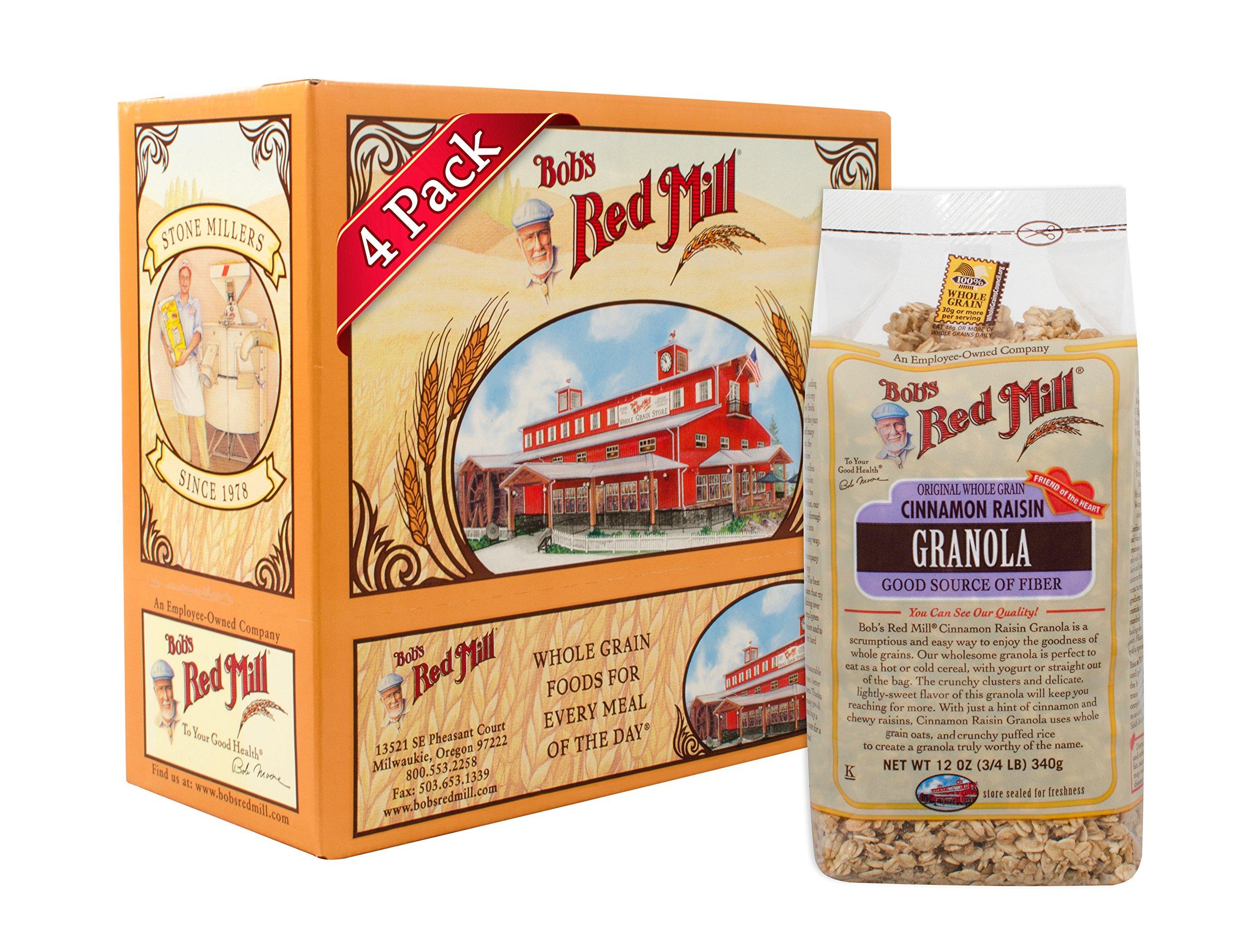 Bob's Red Mill Cinnamon Raisin Granola, 12 Ounce (Pack of 4)