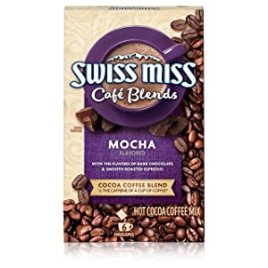Swiss Miss Café Blends Mocha Flavored Hot Cocoa Coffee Mix, 1.38 oz. 6-Count