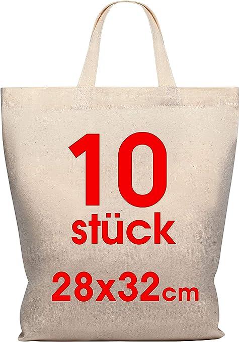 10 pieza 28 x 32 cm Funda de algodón Midi - Yute bolsa - Natural ...