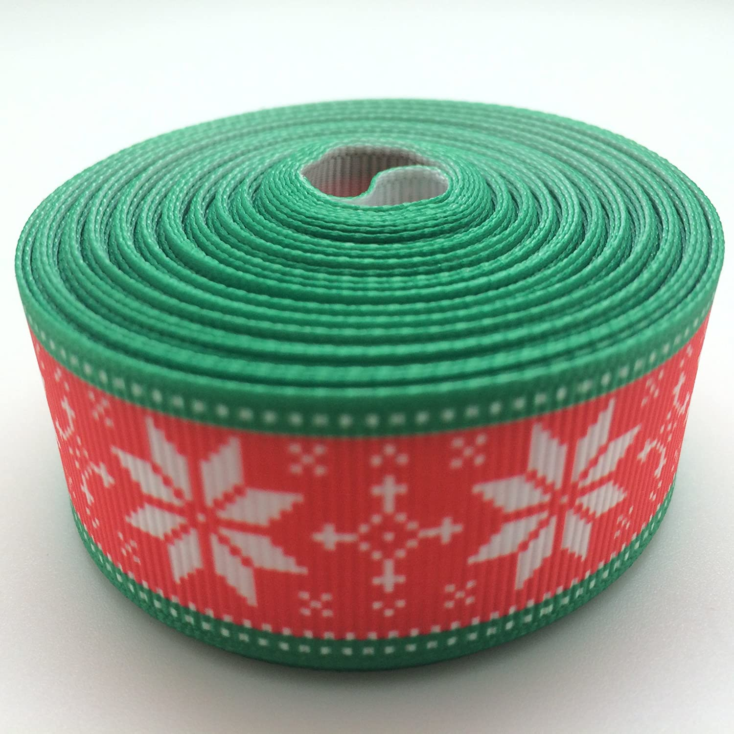 Snowflakes Christmas Grosgrain Ribbon