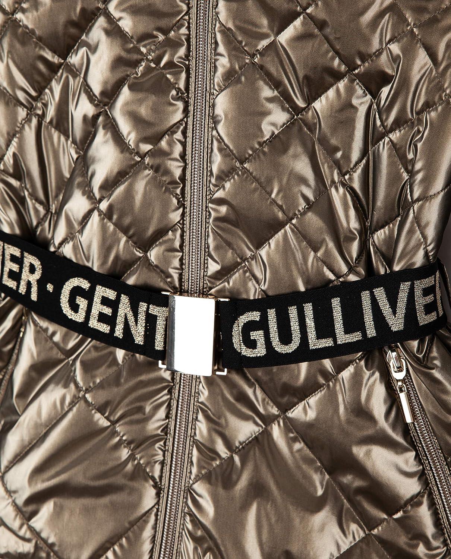 con cappuccio modello Demi-Season grigio con cintura per bambini 3-8 anni Gulliver Giacca impermeabile da bambina