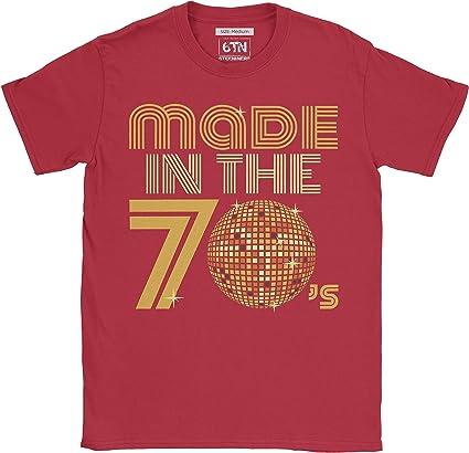 6TN Hombre Hecho en la Camiseta Retro de la Bola del Disco de los ...