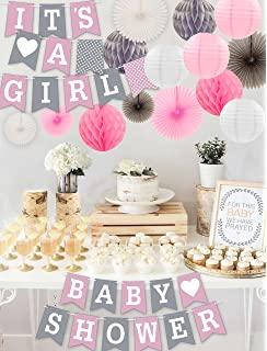 Amazon Com Baby Shower Decorations For Girl Includes Matching