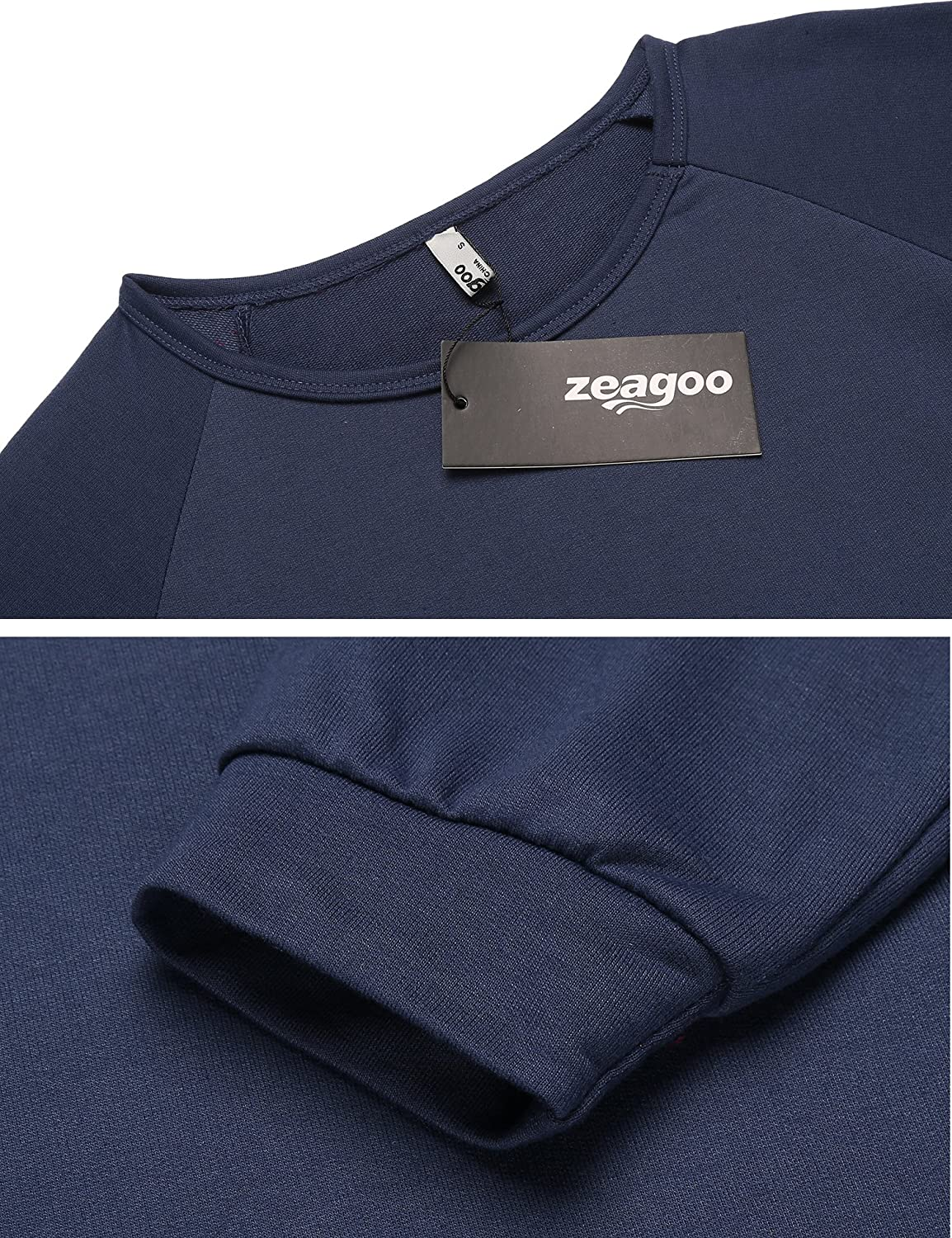 Zeagoo Women Casual Long Sleeve Pockets Pullover Sweatshirt Tunic Tops Long Blouse
