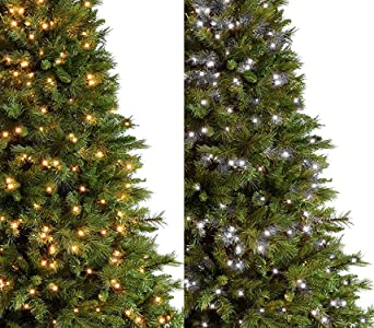 Led Christmas Tree Lights.Christmas Tree Lights 1000 Led 25m 2 In 1 Warm White And Bright Cool White Indoor Outdoor Christmas Lights Decorations Fairy String Lights Memory