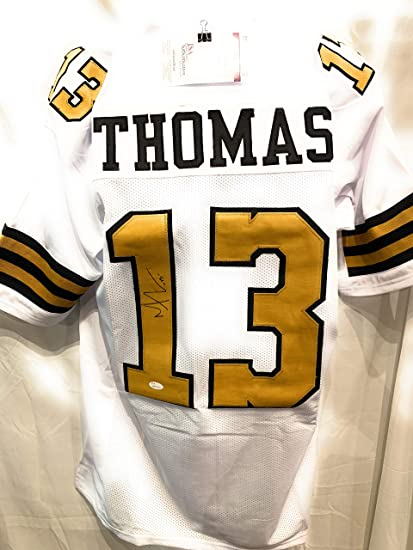 66bbbb4eec5 Michael Thomas New Orleans Saints Signed Autograph White Custom Jersey Color  Rush JSA Witnessed Certified