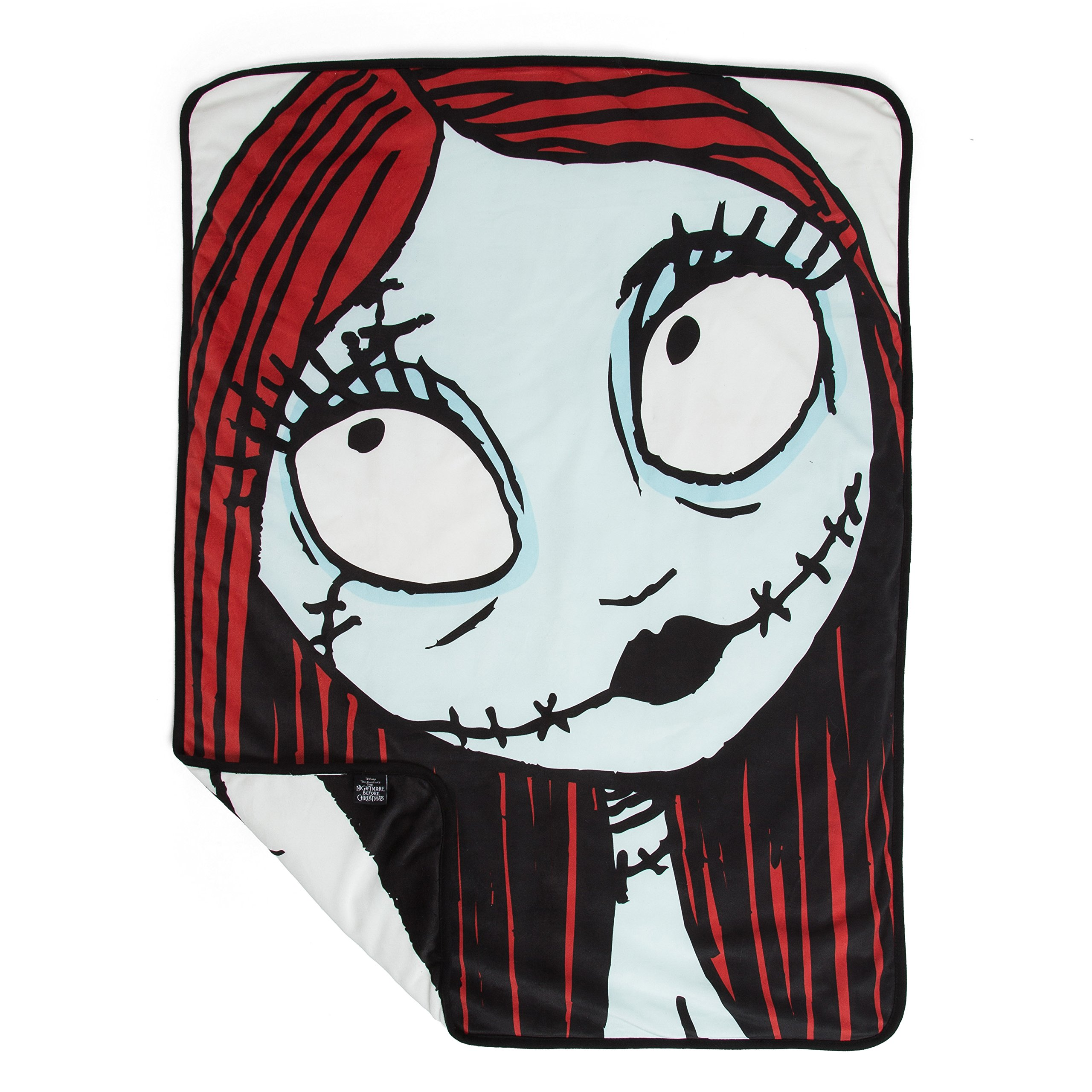 """Disney Nightmare Before Christmas Sally & Jack Luxury Multi-Functional Pet Throw Blanket/Portable Dog Mat/Cat Mat, 30""""x40"""", Collector's Edition"""
