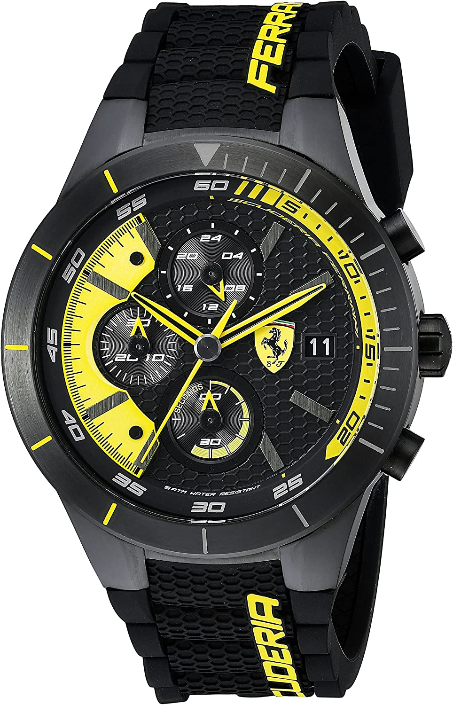 Ferrari Men s 0830261 REDREV EVO Analog Display Japanese Quartz Black Watch