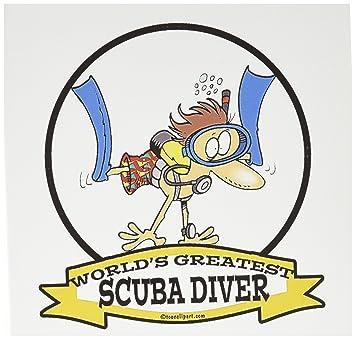 amazon com 3drose funny worlds greatest scuba diver cartoon